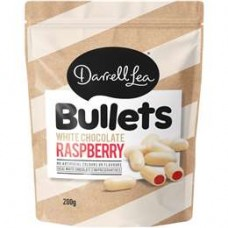 Darrell Lea White Chocolate Raspberry Liquorice Bullets 200g