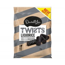 Darrell Lea Black Liquorice Twists 280g