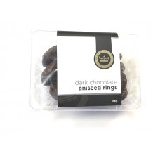 Rocky Road Chocolate Company Dark Chocolate Aniseed Rings 200g