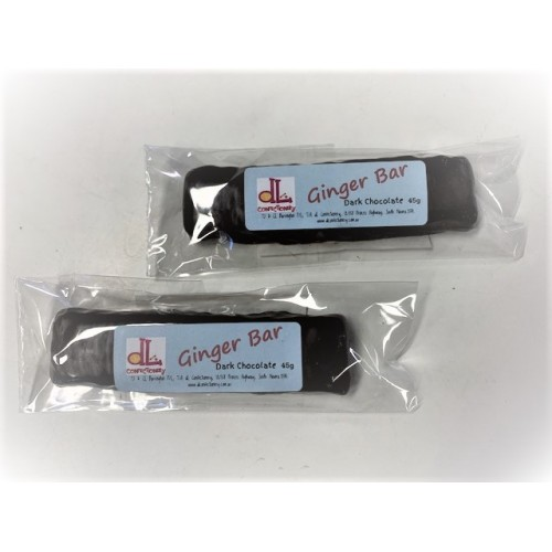 dl Confectionery Dark Chocolate Ginger Bar 45g