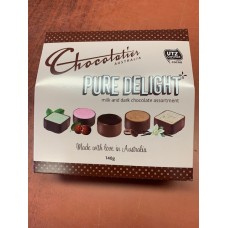 Chocolatier Pure Delight Milk and Dark Chocolate Assortment 140g