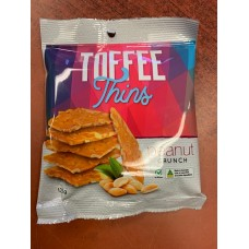 Dannys Toffee & Peanut Thins 125g