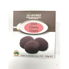 Davies Chocolates Dark Chocolate Cherry Cream Carton 200g