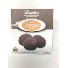 Davies Chocolates Dark Chocolate Lemon Cream Carton 200g