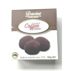 Davies Chocolates Milk Chocolate Coffee Cream Carton 200g