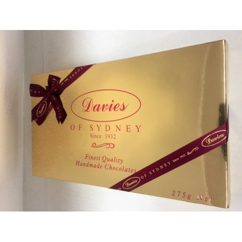 Davies Chocolates Gold Assorted Chocolates Gift Box 275g